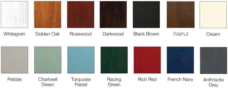uPVC Doors Colours