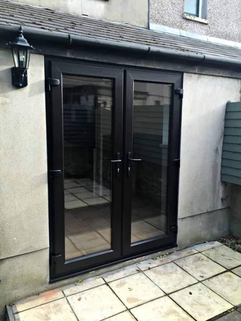 Black upvc french doors