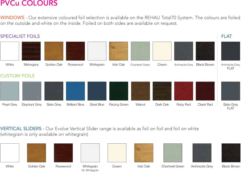 UPVC Window Colours