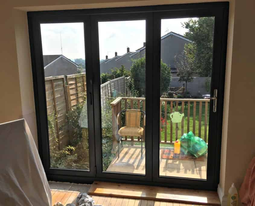 Origin grey aluminium doors